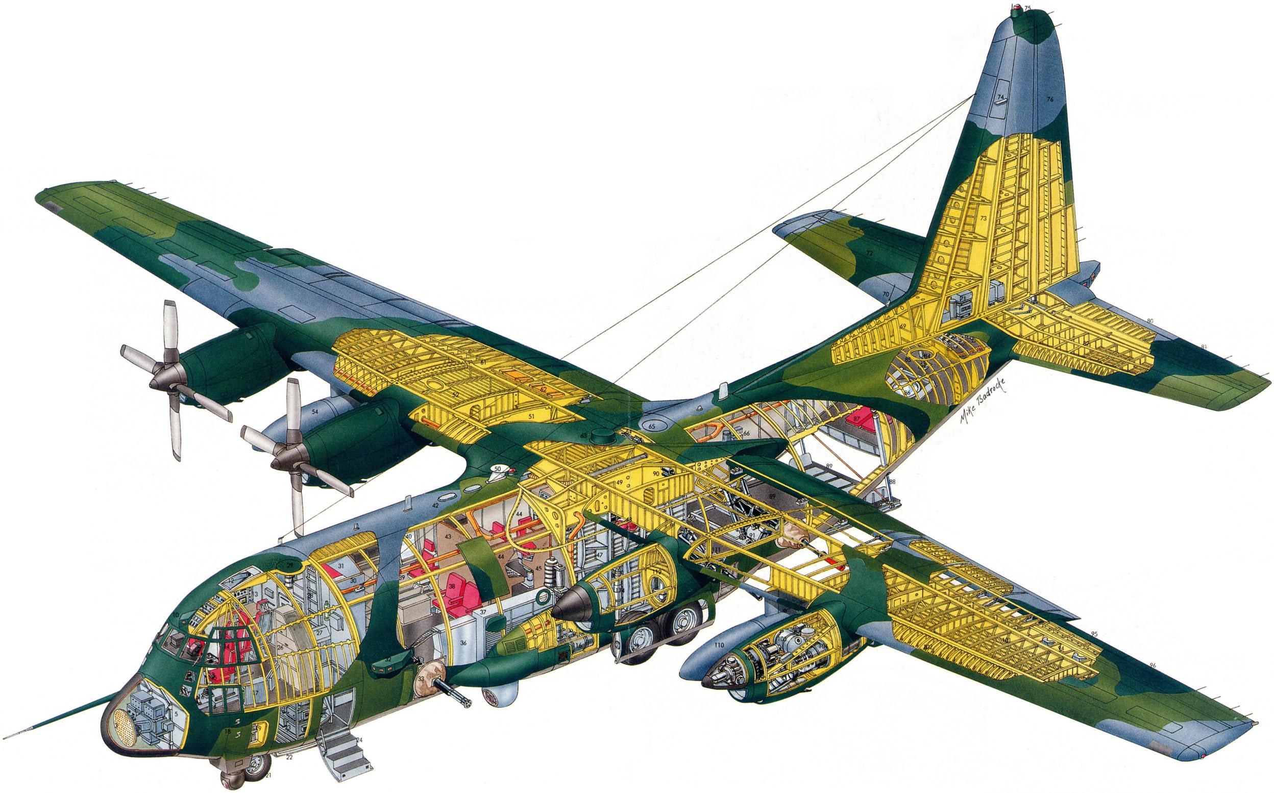 2496x1554 Lockheed C 130 Hercules Cutaway Drawing In High Quality