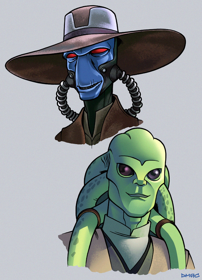 649x900 Cad Bane And Kit Fisto By D Mac