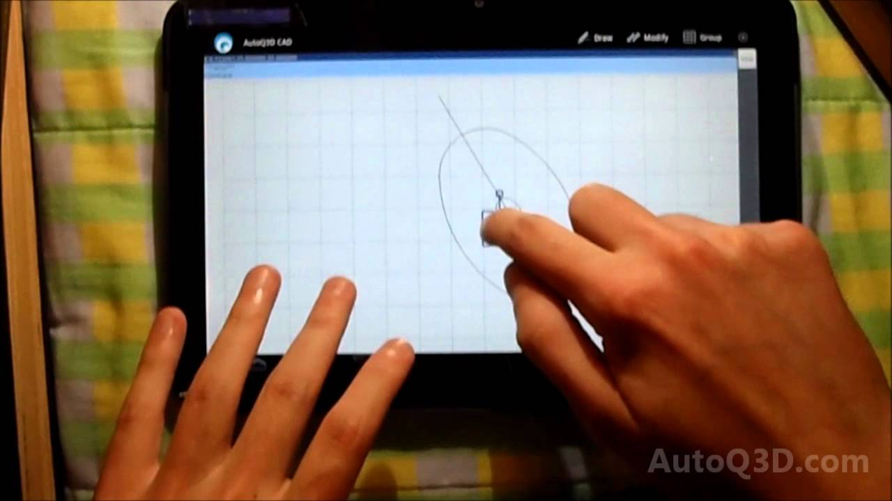 1280x720 Autoq3d Cad For Android Running On A Tablet