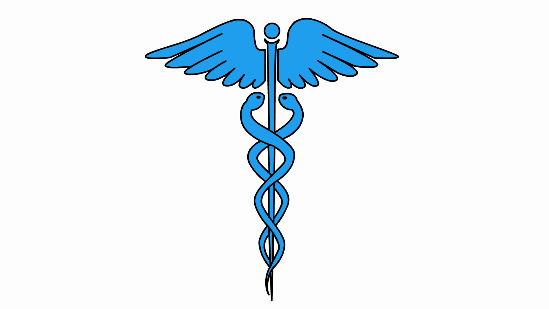 1920x1080 Caduceus Medical Symbol Medical Sketch Illustration Hand Drawn