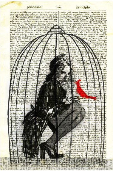 379x575 Bird Cage Drawing Illustration Digtal Art. Birds Of A Feather