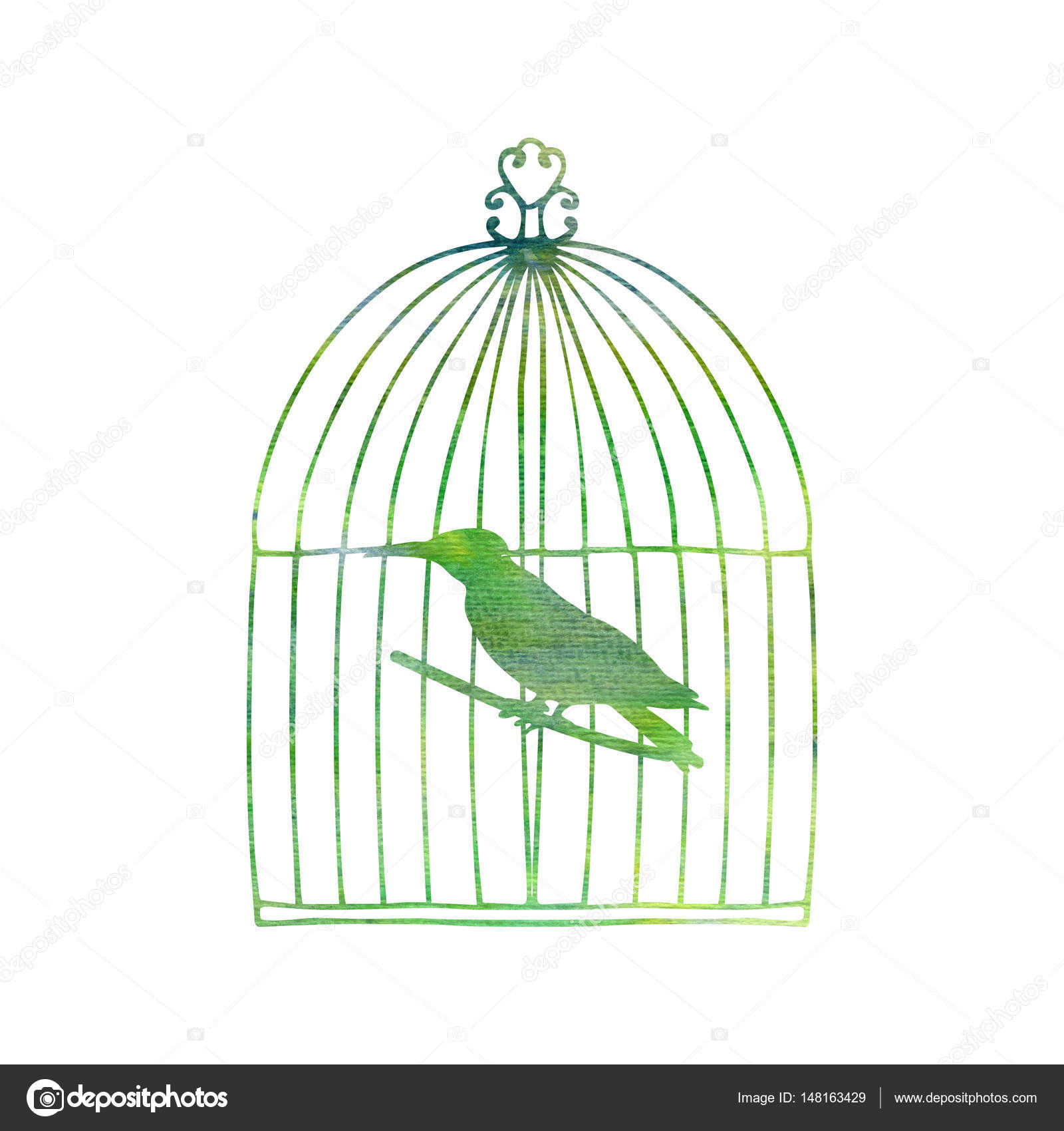 1600x1700 Bird In A Cage Stock Photo Cat Arch Angel