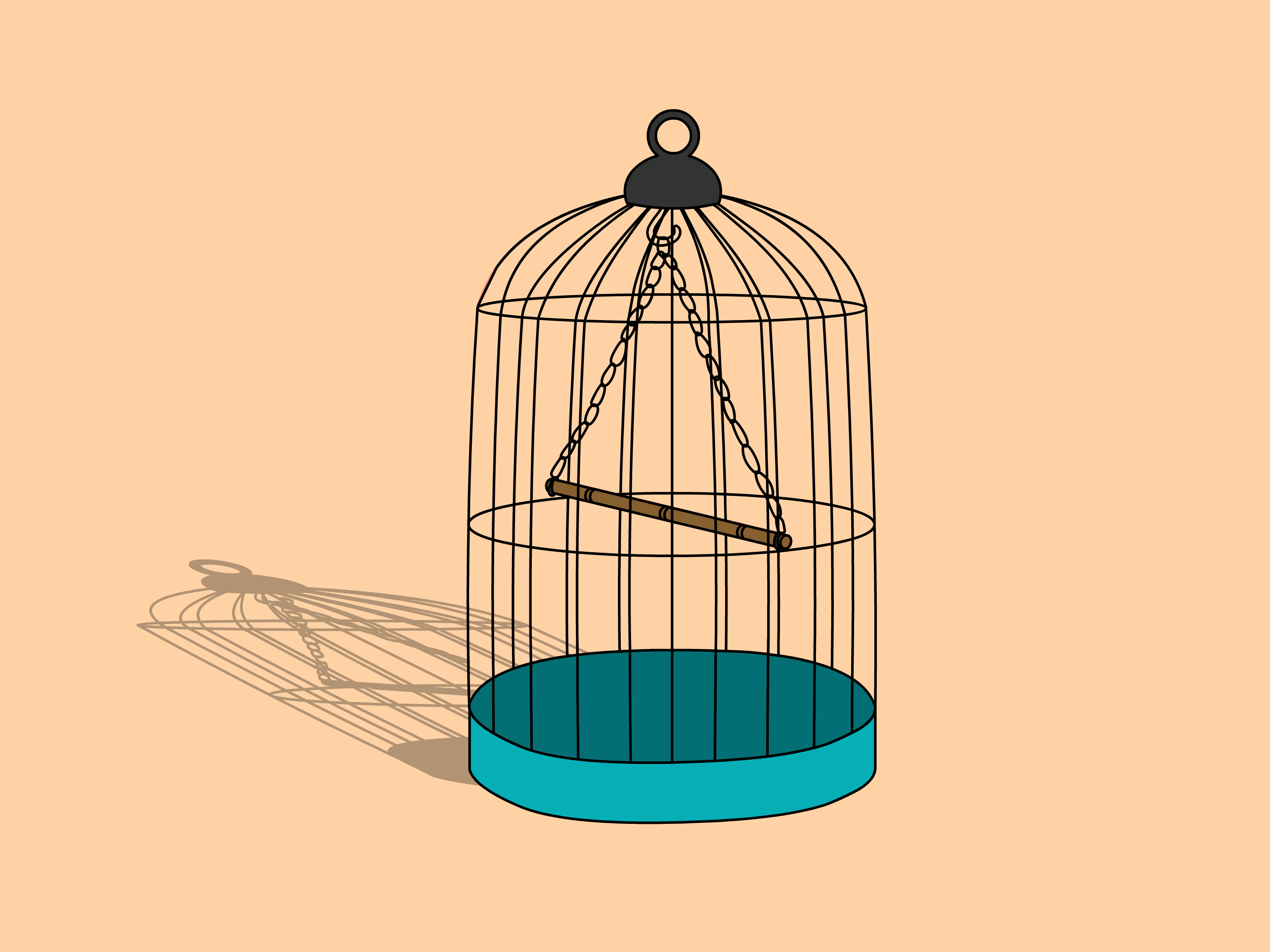 3200x2400 Draw A Bird Cage Step 7.png Illustration