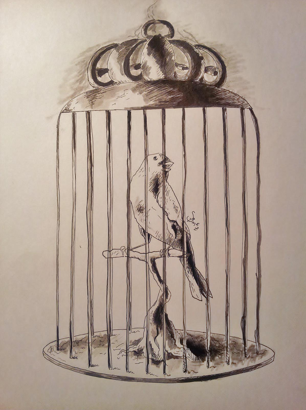 1196x1600 Drawing Of A Bird Cage Bird Cages Bird Cages, Bird