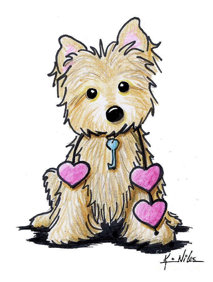 681x900 Heartstrings Cairn Terrier Drawing By Kim Niles