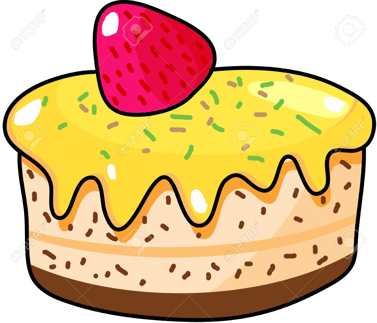1300x1114 Cup Cake Hand Drawn Illustration Royalty Free Cliparts, Vectors