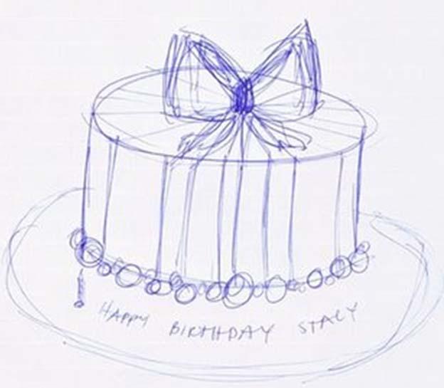 624x545 Cake Design Drawing Talk Sweet To Me!