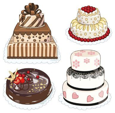 386x379 Drawing Birthday Cake Clip Art Birthday Cake Without Candles