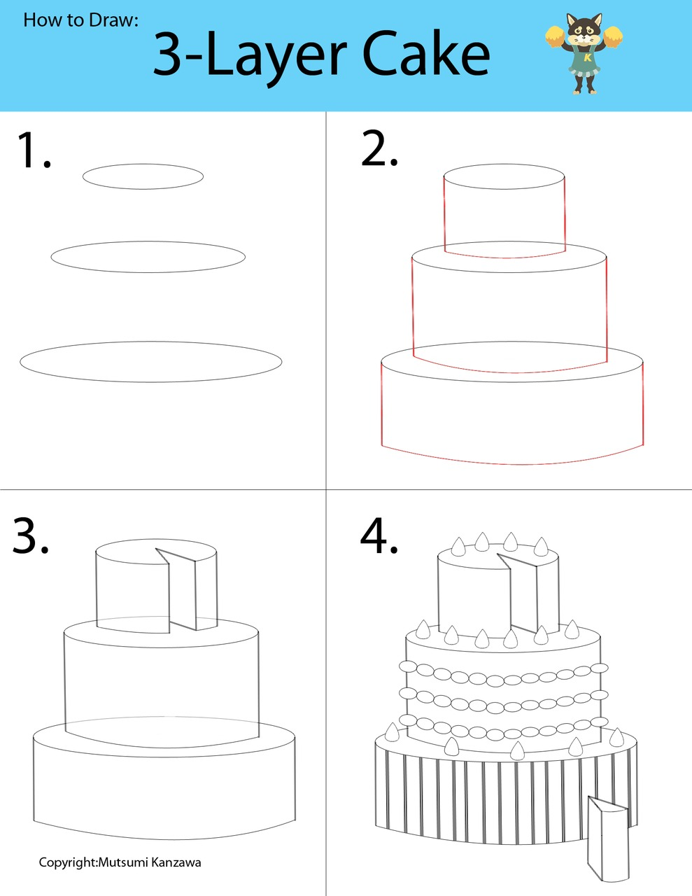 989x1280 Drawing A 3 D Cake Will Be A Piece Of Cake! Learn To Draw Cylinder
