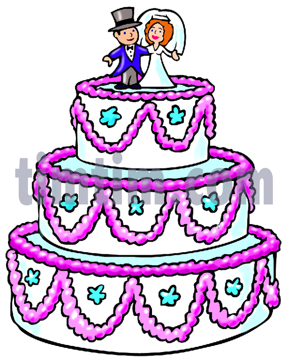 574x718 Free drawing of A Big Wedding Cake from the category Church
