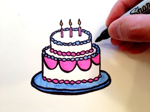 480x360 How to Draw a Birthday Cake