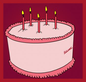 350x337 How to draw how to draw a simple birthday cake