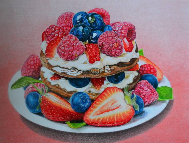 770x584 Saatchi Art Fruit Cake Drawing by Ekatarina Putyatina