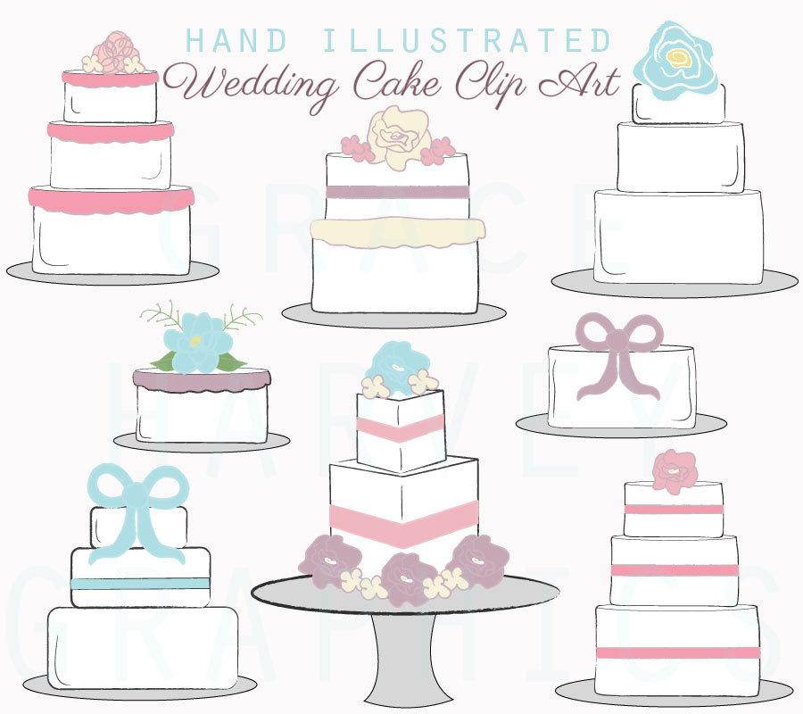 900x800 Cake Clip Art Digital Illustrated Wedding Cakes