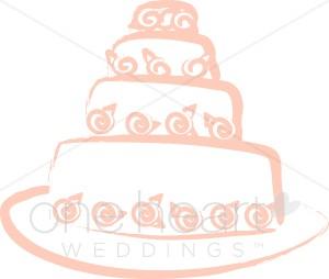 300x254 Wedding Cake Sketch Clipart Wedding Ceremony Clipart