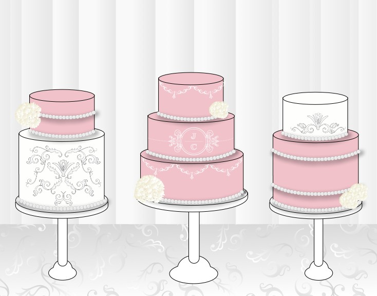 734x576 Wedding Cake Sketch Templates Gallery For Gt Cake Sketches. Tier