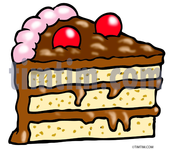 575x503 Free Drawing Of A Chocolat Layer Cake From The Category Cooking
