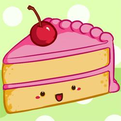250x250 How To Draw A Kawaii (Cute) Cake Slice Feltmagnet