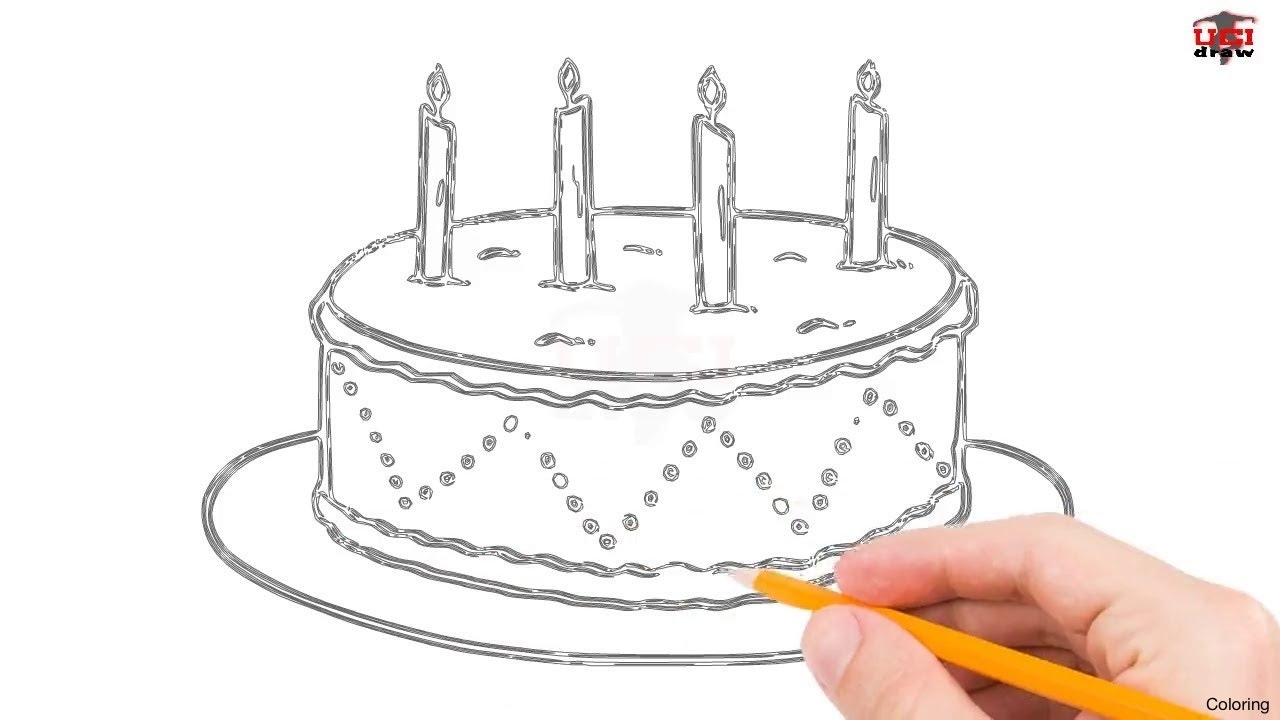 1280x720 Simple Birthday Cake Drawing Color Pagesctivity 1 How To Draw