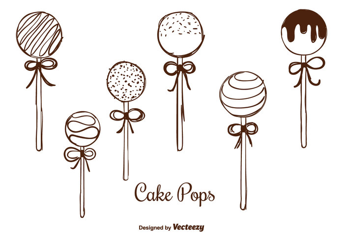 700x490 Hand Drawn Cake Pops Vectors Tasty Hand Drawn