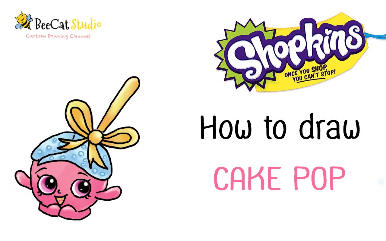 1280x800 How To Draw Shopkins Food Fair Cake Pop Very Cute And Easy
