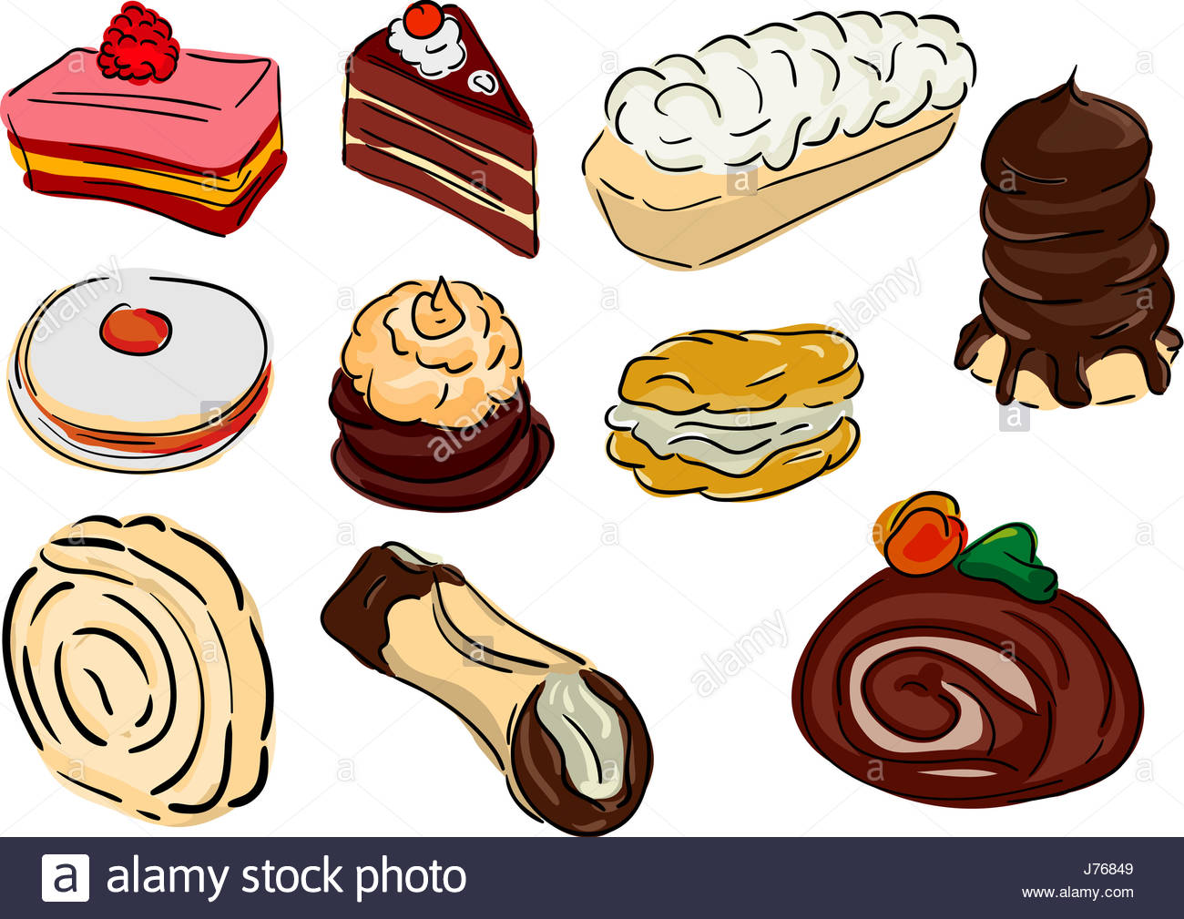 1300x1009 Sweet Colour Illustration Cake Pie Cakes Paint Draw Food Aliment