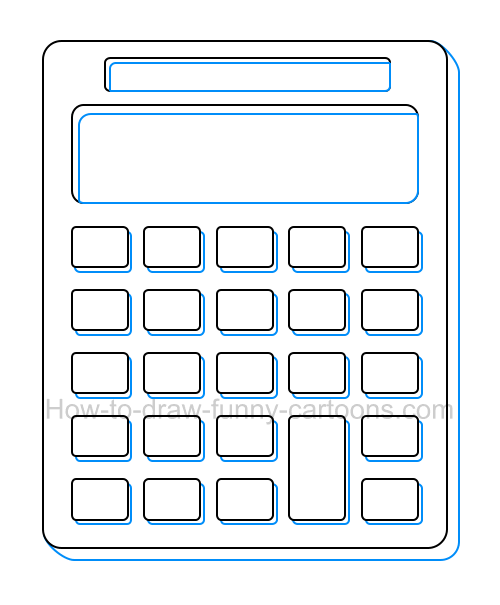 Calculator Drawing at GetDrawings com | Free for personal use