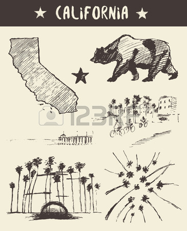 365x450 3,540 California Drawing Stock Illustrations, Cliparts And Royalty