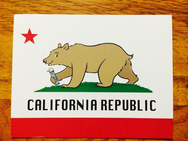 640x480 California Bear Flag Cartoon Drawing With Pez Bear Flag Museum