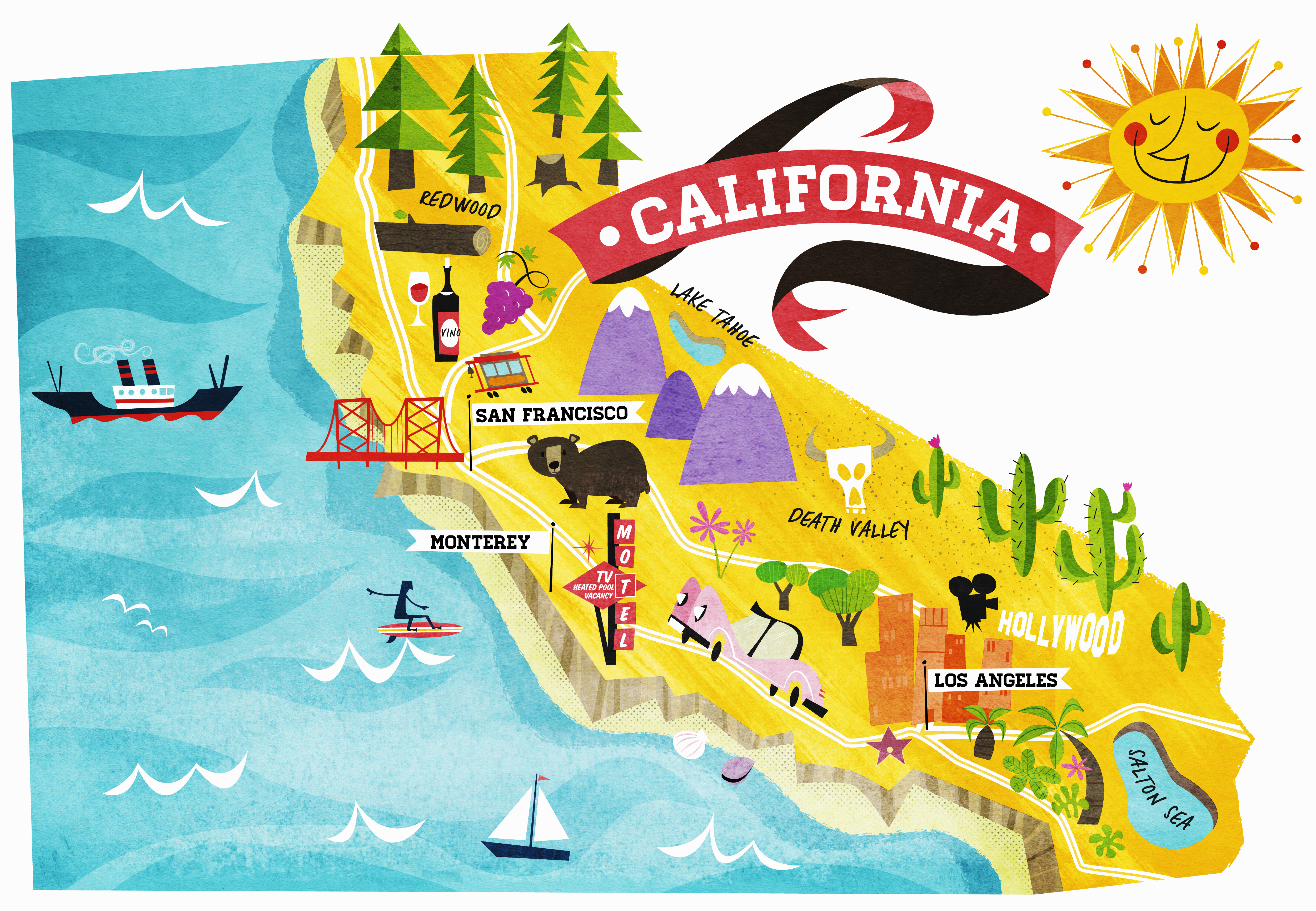 Map Of California Usa.California Map Drawing At Getdrawings Com Free For Personal Use