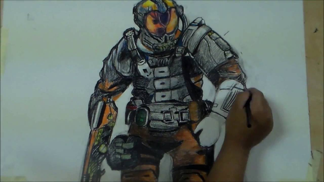 1280x720 Firebreak Specialist (Call Of Duty) Black Ops 3 Speed Drawing By
