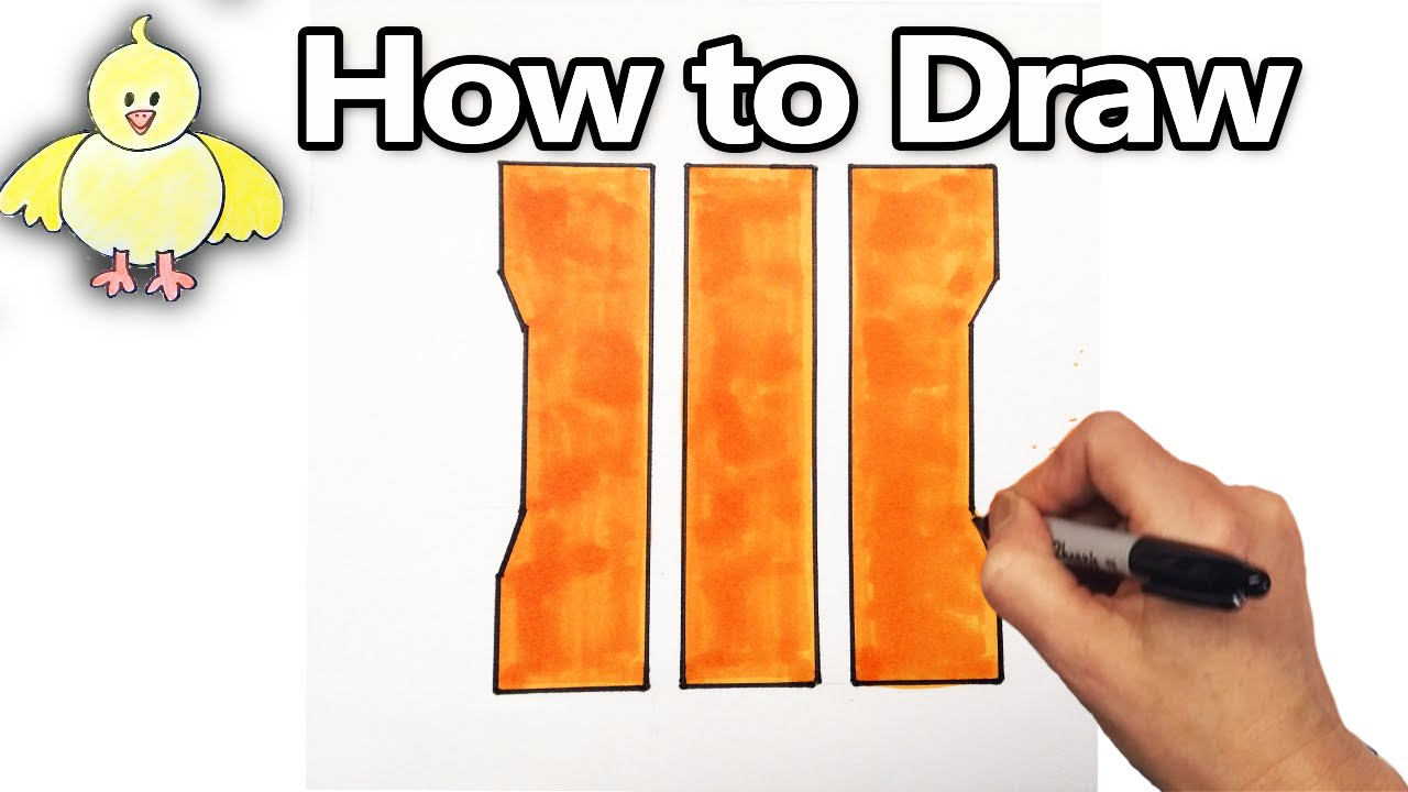 1280x720 How To Draw The Cod Bo3 Logo Emblem Step By Step (Call Of Duty