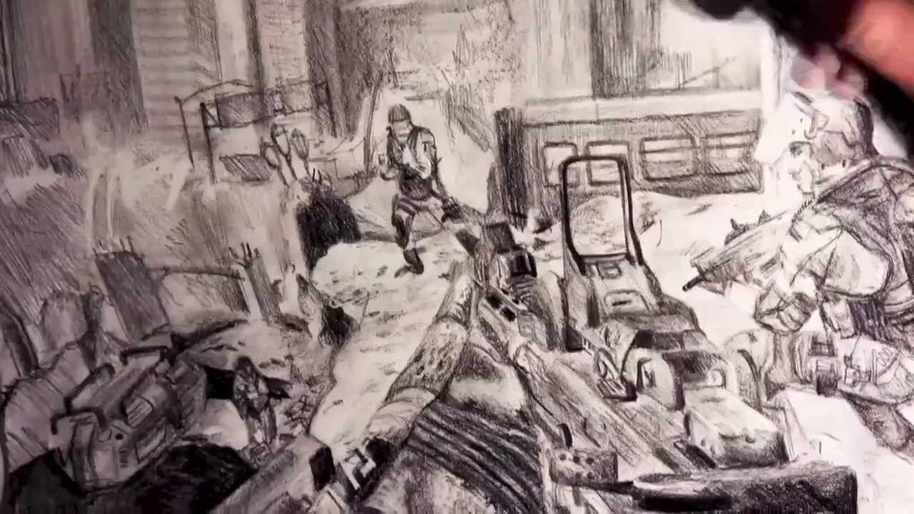 1280x720 Call Of Duty Drawings Call Of Duty Ghosts Speed Drawing