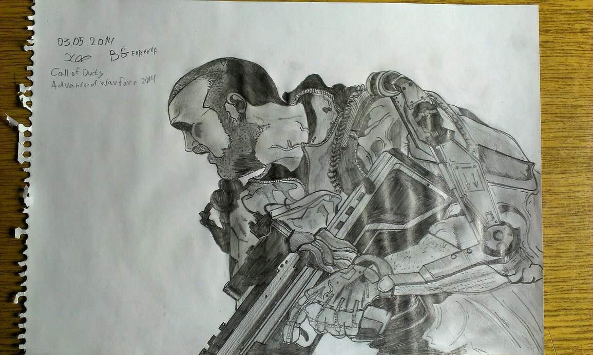 1155x691 Call Of Duty Advanced Warfare Drawing 2014 By Fghfghdfgh
