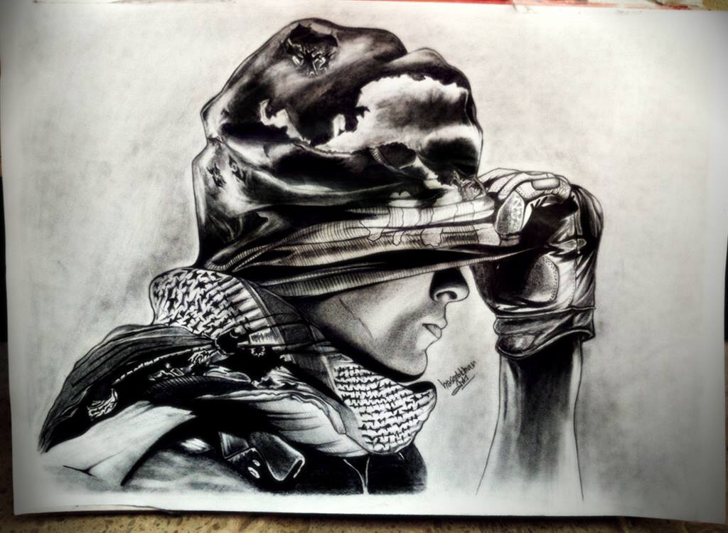 1024x749 Call Of Duty Ghost My Pencil Sketches Sketches