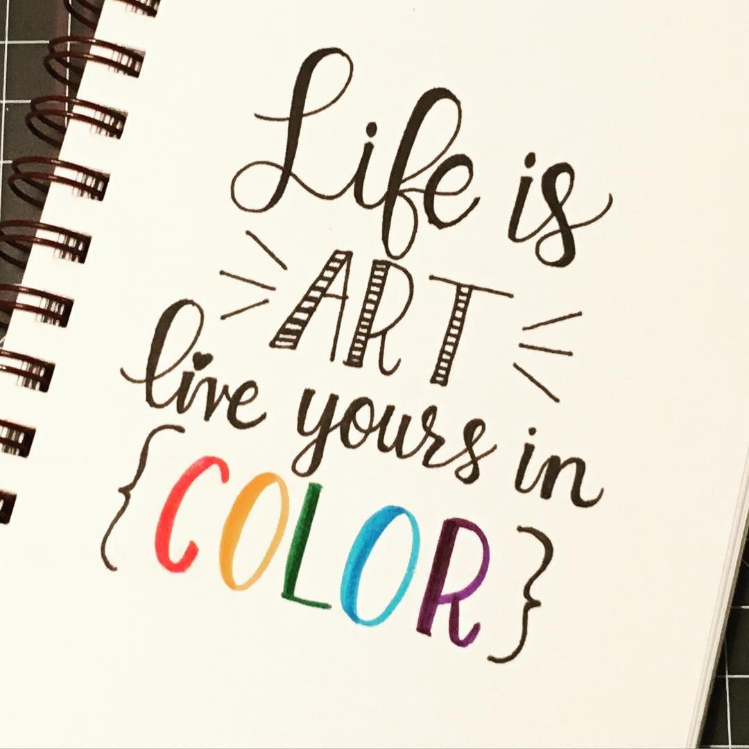 1080x1080 This Is Life In Colour! Calligraphy, Typography, Lettering