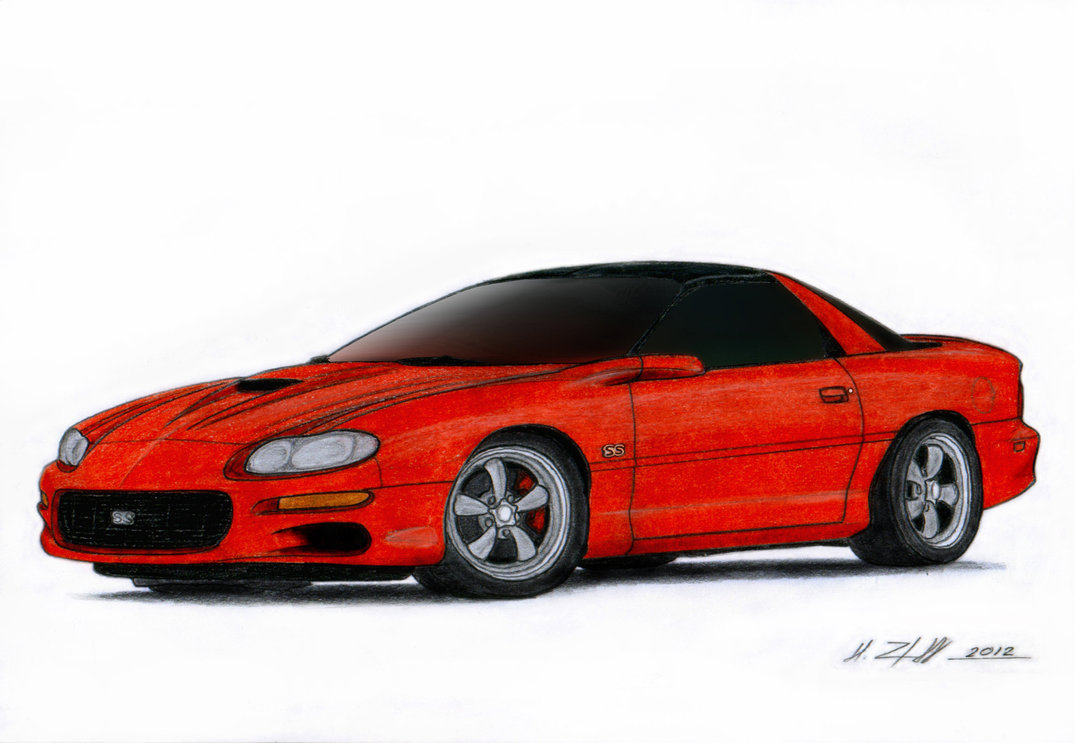 1075x743 2002 Chevrolet Camaro Ss Drawing By Vertualissimo