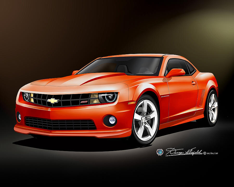 900x720 2010 Chevrolet Camaro Ss Drawing By Danny Whitfield