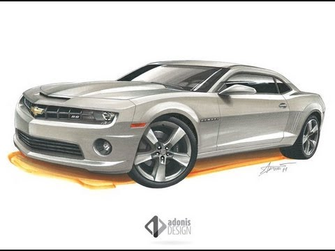 480x360 Chevrolet Camaro Ss Drawing By Adonis Alcici