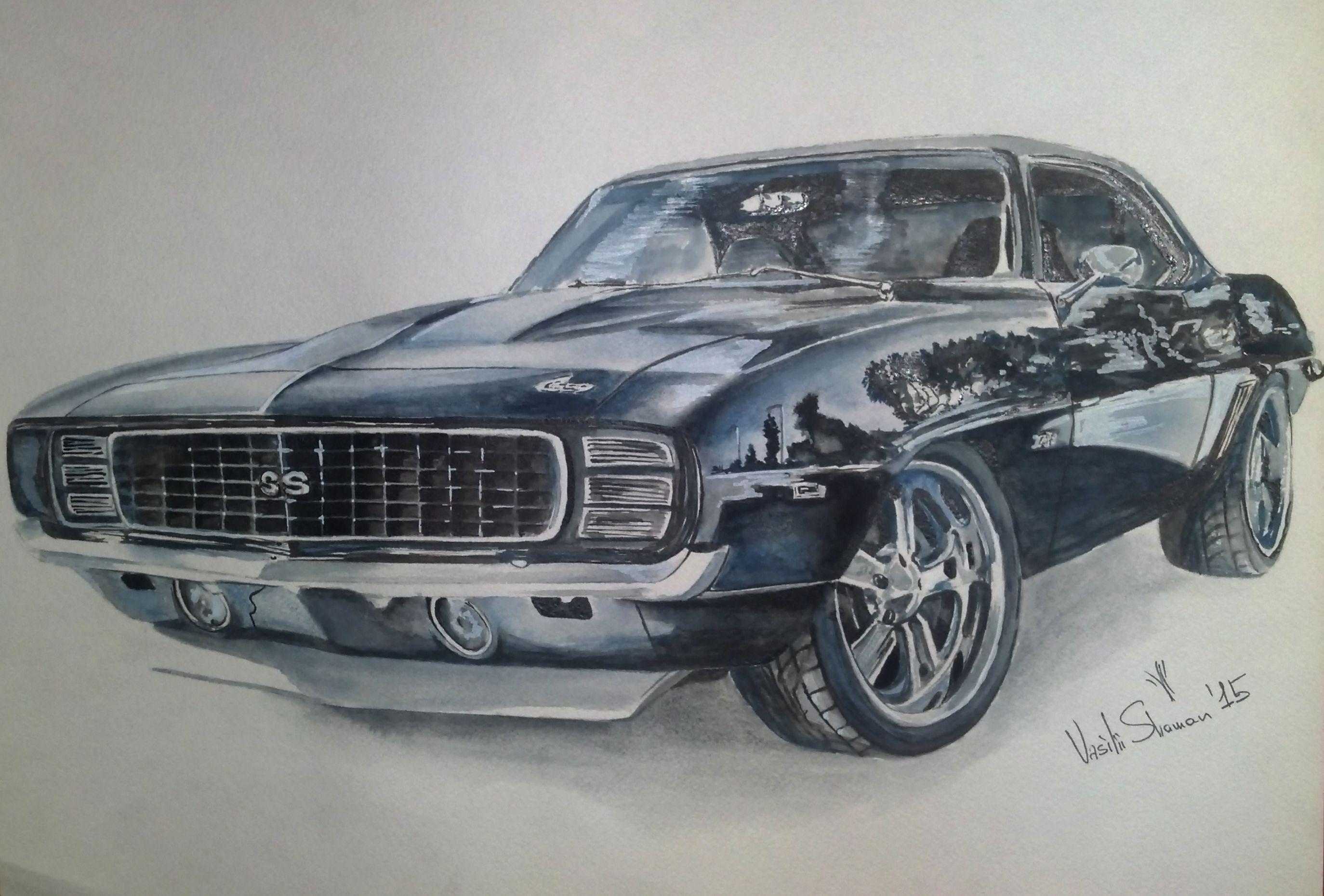 2748x1860 Chevrolet Camaro Ss Drawing My