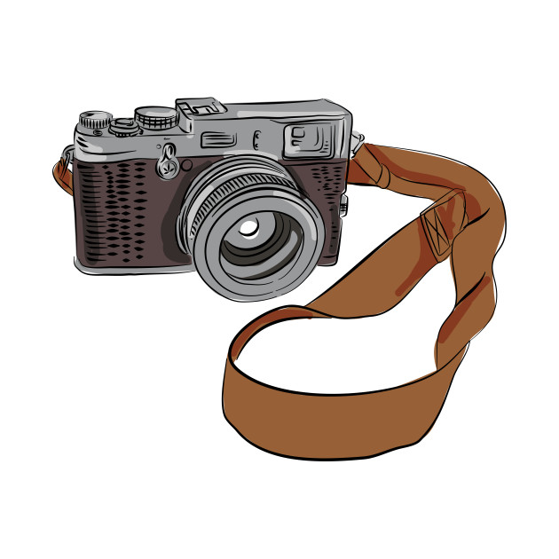 630x630 Vintage Camera Drawing Isolated