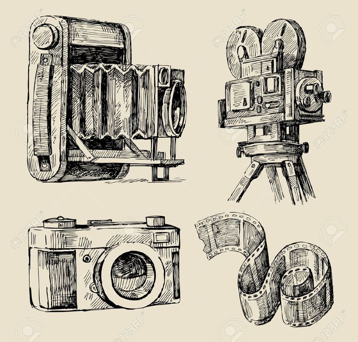 736x703 200 Best Camera Drawings Images On Camera Tattoos, Art