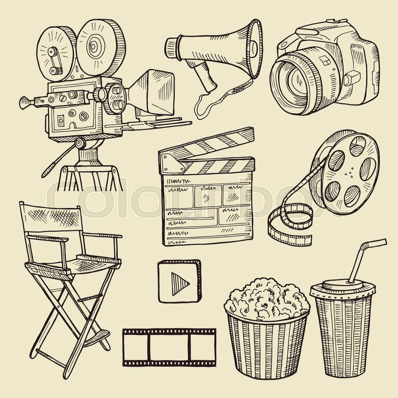 800x800 Drawing Scribbles. Vector Illustration. Vector Icons. A Collection