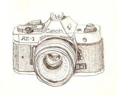 236x192 Camera Drawing Illustration Canon Analogue Marleen Annema Minerva