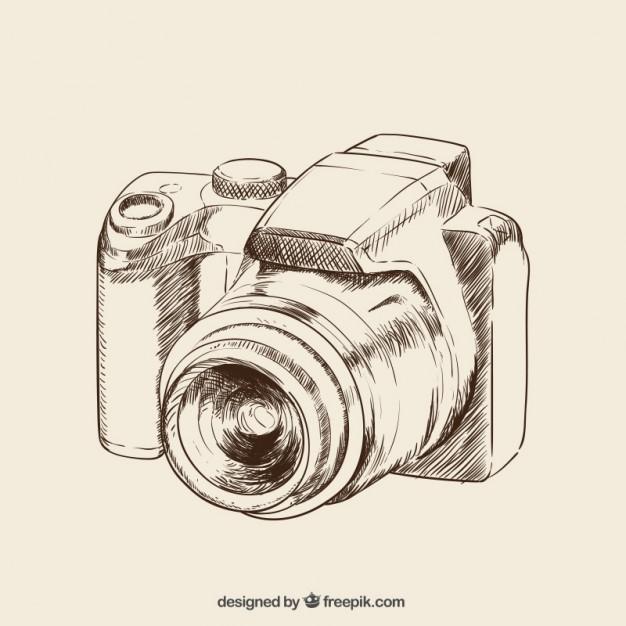 626x626 Hand Drawn Camera Vector Free Download