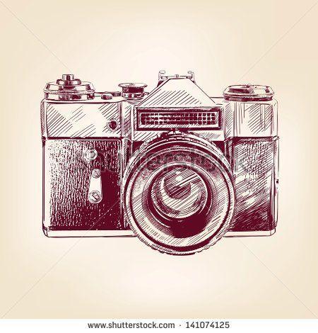450x470 Vintage Old Photo Camera Drawn Vector Llustration Camera Tattoo