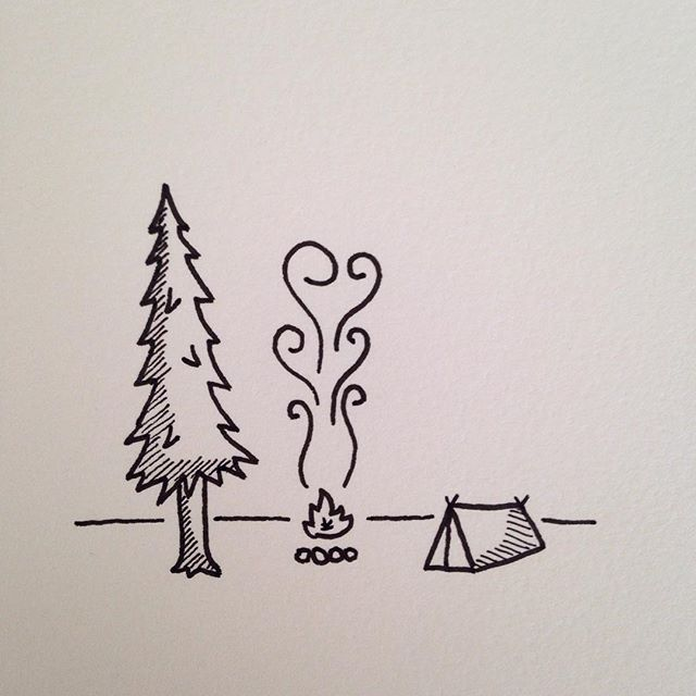 Camp Fire Drawing at GetDrawings com   Free for personal use