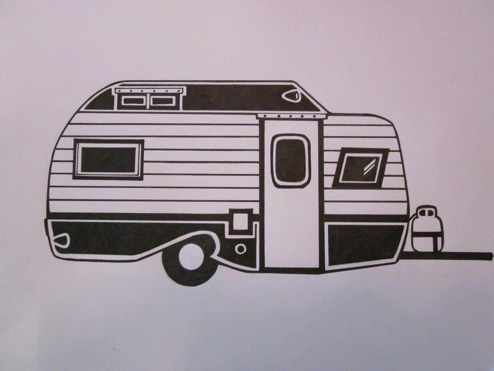 1600x1200 Camper Drawings Serro Scotty Trailer Drawing Campers