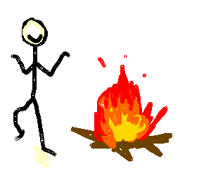 300x250 A Guy Dancing Next To A Campfire