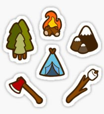 210x230 Campfire Drawing Stickers Redbubble